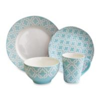 American Atelier Quatre 16-Piece Dinnerware Set in Teal