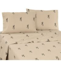 Browning Buckmark California King Sheet Set in Tan
