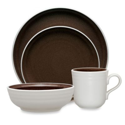 Noritake® Colorvara 4-Piece Place Setting in Chocolate  sc 1 st  Bed Bath \u0026 Beyond : brown dinnerware - pezcame.com
