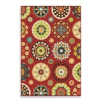 Aria Rugs Veranda Collection 7-Foot 8-Inch x 10-Foot 10-Inch Hubbard Rug in Red