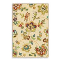 Aria Rugs Veranda Collection 5-Foot 2-Inch x 7-Foot 6-Inch Foot Walters Rug in White
