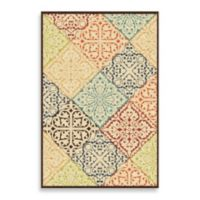Aria Rugs Veranda Collection 5-Foot 2-Inch x 7-Foot 6-Inch Whitten Rug in Multicolor
