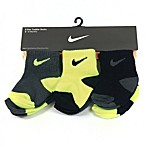Nike Size 6-12M 6-Pack Crew Cut Socks in Grey/Green/Black