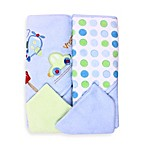 Spasilk® Airplane 2-Pack Hooded Towel and Washcloth Set in Blue