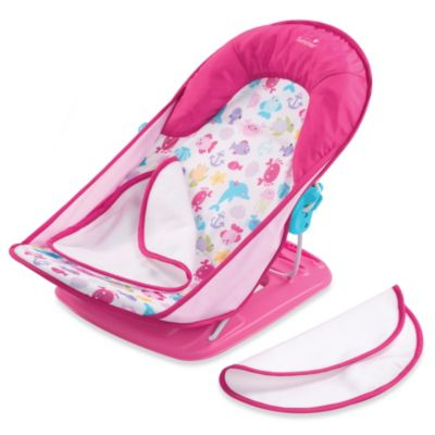 this review is fromsummer infant bath tub sling with warming wings in pink