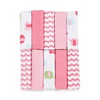 Just Bath by Just Born™ Love to Bathe 10-Pack Knit Washcloth in Elephant/Pink and White