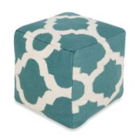 Surya Montijo POUF Ottoman in Light Aqua Green/Winter White