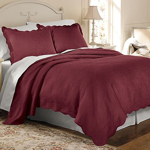 Matelasse Coventry Coverlet Set In Burgundy Bed Bath