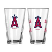 MLB Los Angeles Angels of Anaheim Color Changing Pint Glasses (Set of 2)
