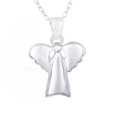 Buy sterling silver angel pendant from bed bath beyond sterling silver angel pendant with chain aloadofball Image collections