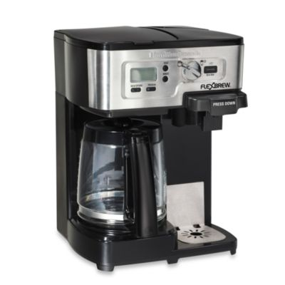 Single Coffee Maker Bed Bath And Beyond : Hamilton Beach FlexBrew 2-Way Coffee Maker - Bed Bath & Beyond