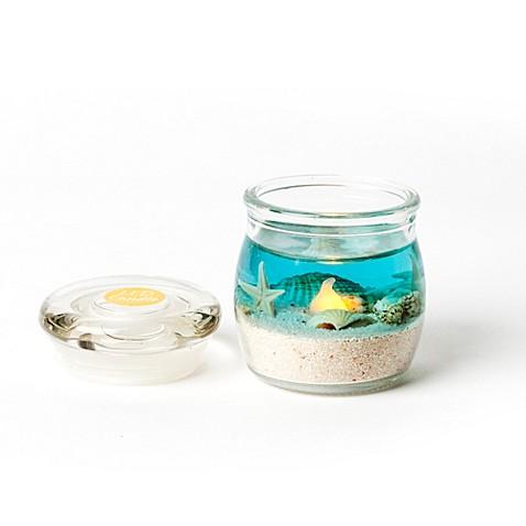 2 5 Inch Oceanscape Gel Led Mini Jar Candle Bed Bath