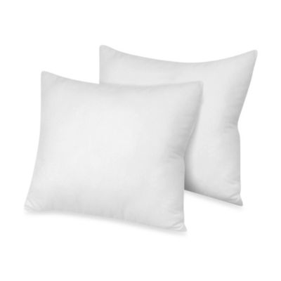 therapedic theraloft european square pillows for european style shams 2pack