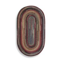 Capel Rugs Eaton Braided 2-Foot 3-Inch x 4-Foot Oval Rug in Bluebell