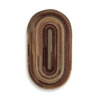 Capel Rugs Eaton Braided Oval 7-Foot x 9-Foot Rug in Wineberry
