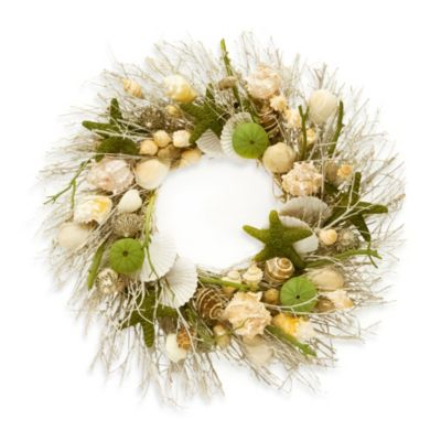 decorative natural shell scented wreath - Decorative Wreaths