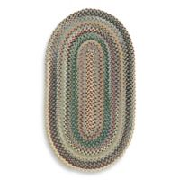 Capel Rugs Sherwood Forest 7-Foot x 9-Foot Braided Oval Rug in Blue
