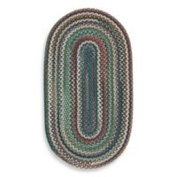 Capel Rugs Sherwood Forest 2-Foot 3-Inch x 4-Foot Braided Oval Rug in Deep Blue