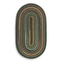 Capel Rugs Sherwood Forest 2-Foot 3-Inch x 4-Foot Braided Oval Rug in Hunter Green