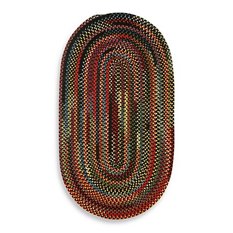 Capel Rugs Sherwood Forest Braided Oval Rug In Multi Bed