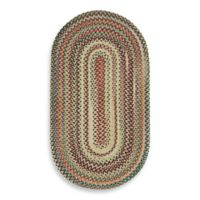 Capel Rugs Sherwood Forest 3-Foot x 5-Foot Oval Braided Rug in Wheat