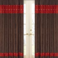 Sweet Jojo Designs Wild West 84-Inch Window Panel Pair in Bandana Print (Set of 2)