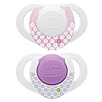 Chicco® NaturalFit™ Deco Orthodontic Pacifier in Pink (2-Pack)