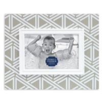 Patterned Wood Picture Frame in Taupe