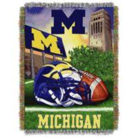 University of Michigan Tapestry Throw Blanket