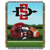 San Diego State University Tapestry Throw Blanket