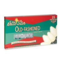 Brite Star 25-Count Old Fashioned Transparent Lights in Frosted White