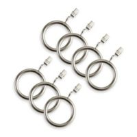 Cambria® Elite Complete Clip Rings in Brushed Nickel (Set of 7)