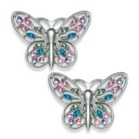 Cambria® My Room Jeweled Butterfly Finial in Brushed Nickel (Set of 2)