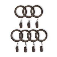 Cambria® Connections Window Curtain Clip Rings in Venetian Bronze (Set of 7)