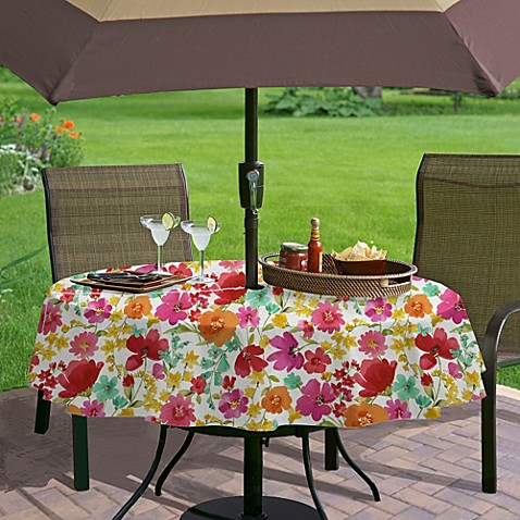 Buy Victoria Gardens 70 Inch Round Vinyl Tablecloth From