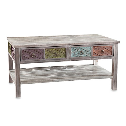 Southern Enterprises Finchley Cocktail Table in Multicolor