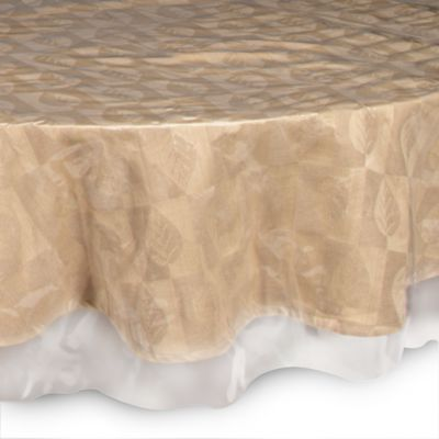 Crystal Clear 70 Inch X 108 Inch Oblong Tablecloth Protector