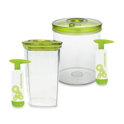 Vacucraft Juice Saver Vacuum Sealed Juice Container with Pump