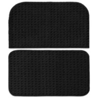 Garland Herald Square 2-Piece Kitchen Rug Set in Black