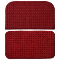Garland Herald Square 2-Piece Kitchen Rug Set in Burgundy