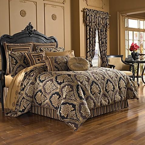 Buy j queen new york majestic full comforter set from for Full bath set