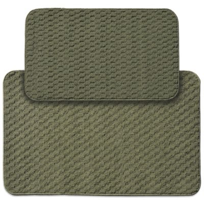 Garland Town Square 2 Piece Rectangle Kitchen Rug Set In Sage