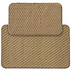 Garland Town Square 2-Piece Rectangle Kitchen Rug Set in Beige