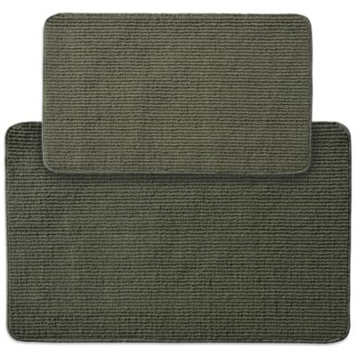 Garland Berber Rib 2 Piece Kitchen Rug Set In Sage