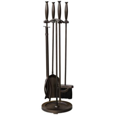 uniflame fireplace. UniFlame  5 Piece Fireplace Tool Set in Bronze Buy Uniflame Tools from Bed Bath Beyond