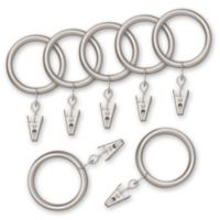 Nemesis Indoor/Outdoor Decorative Window Curtain Clip Rings (Set of 7)