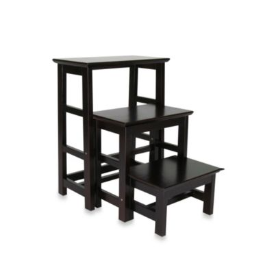 wooden 3step stepping stool