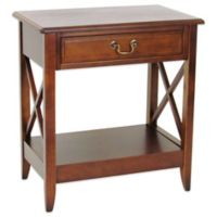 Side Table with 1 Drawer in Brown