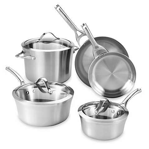 calphalon stainless steel 8piece cookware set