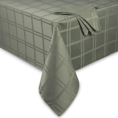 Origins™ Microfiber 60 Inch X 84 Inch Oval Tablecloth In Peridot